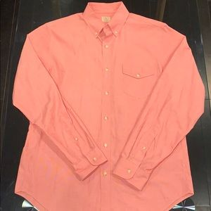 J-Crew Salmon Long-Sleeve button down